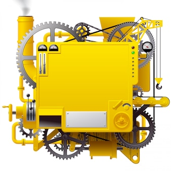 Fantastica macchina gialla complessa