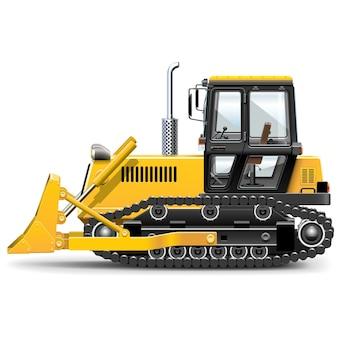 Illustrazione gialla della macchina da costruzione