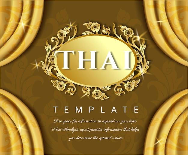 Tende gialle con tradizionale tailandese.