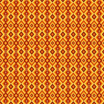 Modello groovy geometrico di forme di diamante giallo