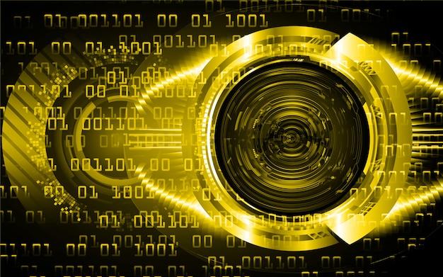 Occhio giallo circuito cyber futuro tecnologia sfondo