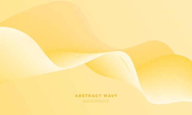 Sfondo astratto ondulato fluido giallo