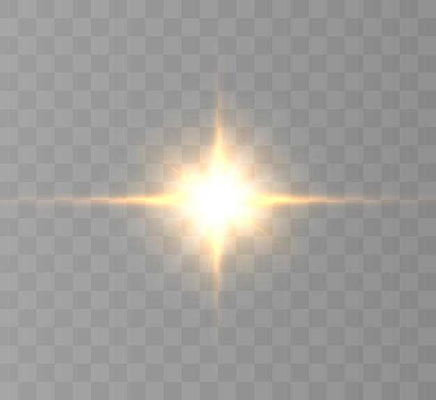 Esplosione di scoppio di luce incandescente gialla