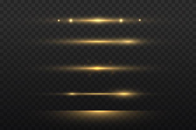 Luce gialla incandescente, raggio laser