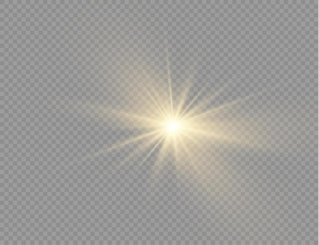 Luce gialla incandescente