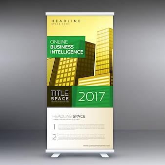 Banner roll up standee disegno modello di business concept