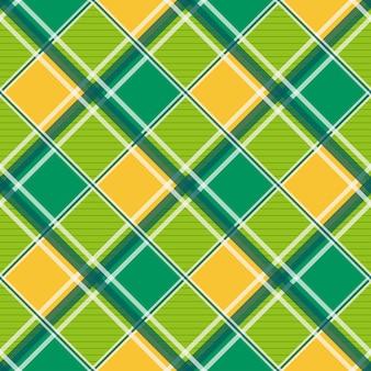 Sfondo di scacchiera diamante bianco giallo verde