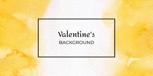 San valentino di trama acquerello disegnato a mano giallo