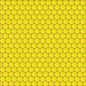 Illustartion di vettore di sfondo giallo a nido d'ape