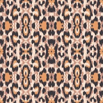 Modello senza cuciture di vettore animale leopardo giallo. disegno arrugginito jaguar fabric design graffiti design. modello di piastrelle fatte a mano di senape. pittura di grunge del tappeto del ghepardo della grafite.