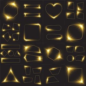 Set cornice luce gialla