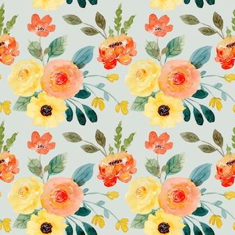 Reticolo senza giunte dell'acquerello del fiore d'arancio giallo