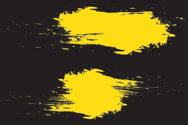 Sfondo astratto grunge verniciato giallo Vettore Premium