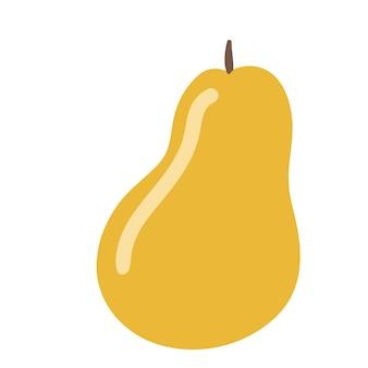 Fumetto semplice dell'illustrazione di vettore della pera gialla