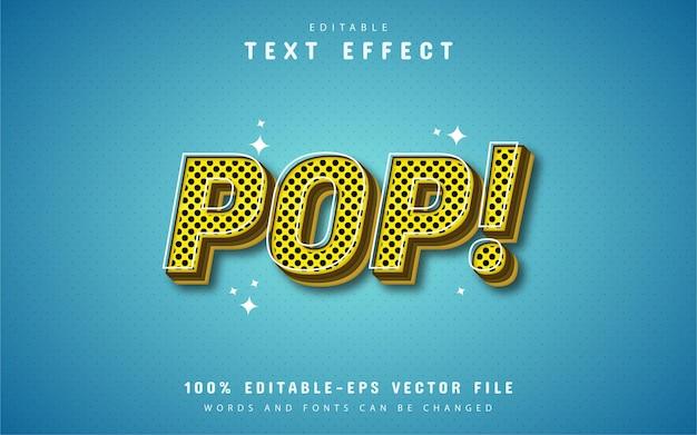 Effetto di testo in stile pop giallo