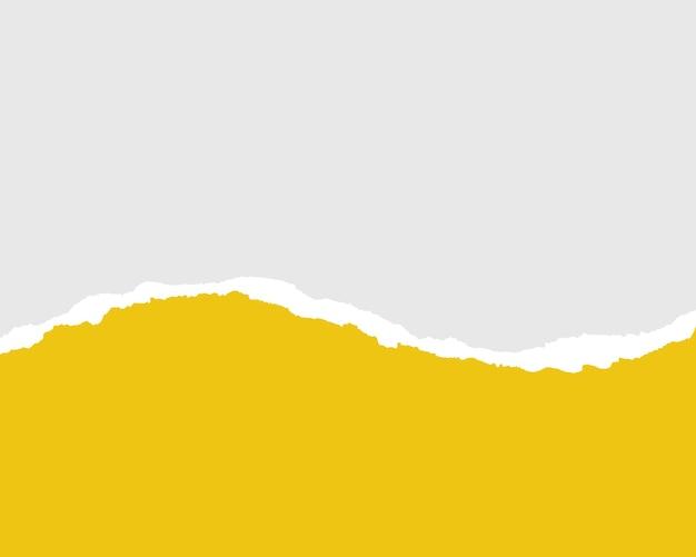 Strisce di carta gialle strappate realistiche carta strappata su sfondo trasparente senza cuciture orizzontalmente