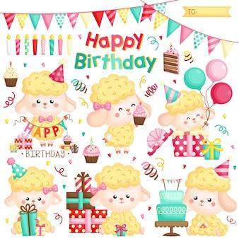 Compleanno di pecore gialle