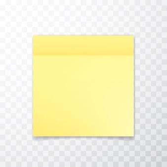 Foglio di carta per appunti giallo