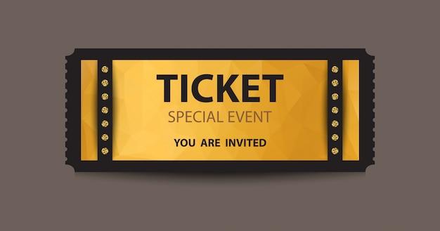 Biglietto troncone giallo