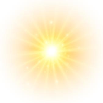 Il sole giallo un lampo, un bagliore tenue senza raggi in partenza, la stella balenò con scintille