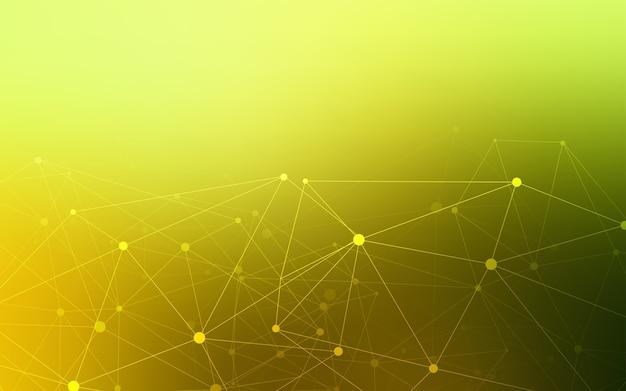 Sfondo giallo vettoriale con bolle