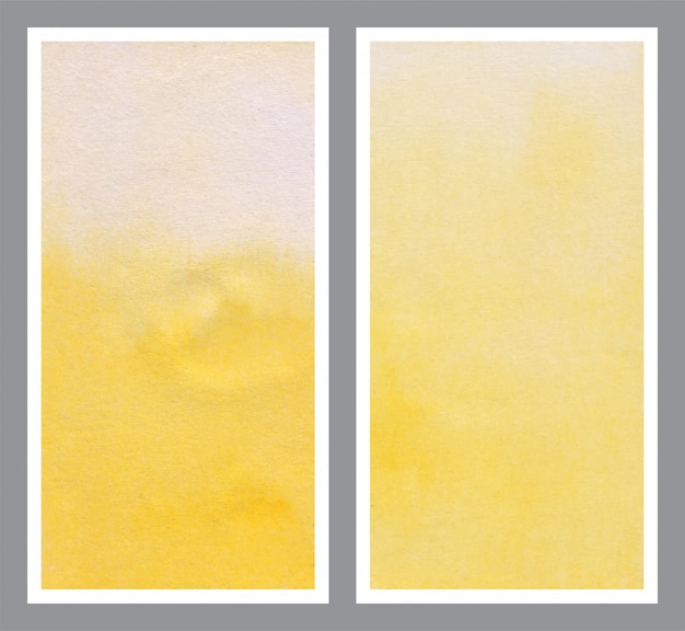 Sfondo giallo acquerello per banner