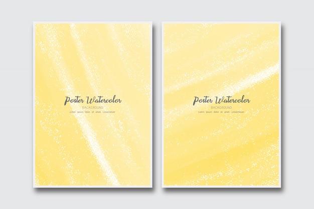 Sfondo giallo acquerello