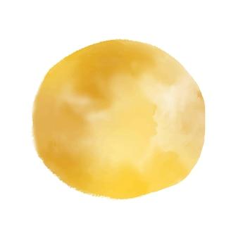Cerchio giallo della macchia dell'acquerello