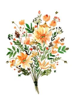 Bouquet di fiori di campo giallo