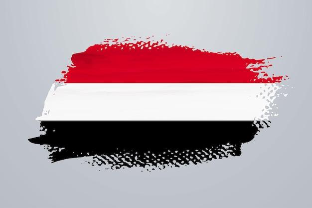 Bandiera dello yemen con vernice a pennello