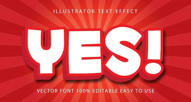 Sì! effetto di testo modificabile