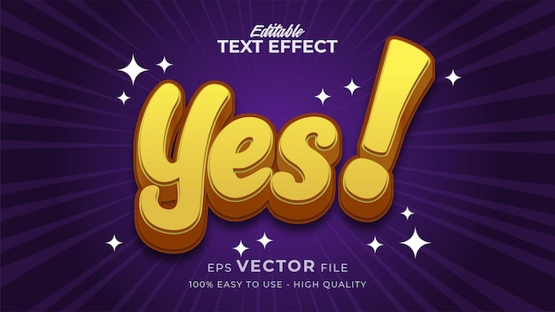 Sì effetto di testo modificabile