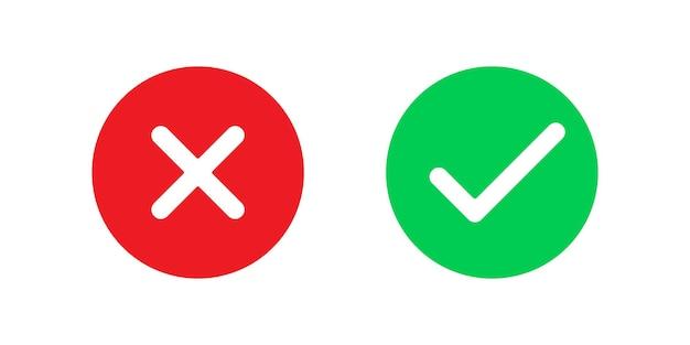 Sì e no segni di icone