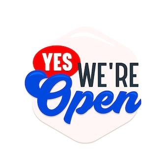Sì, siamo un'etichetta aperta, un cartello o un banner, un cartello per supermercato, una porta del negozio o una notifica di servizio dell'azienda commerciale