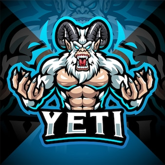Yeti esport mascotte logo design