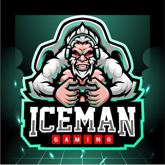 Yeti gaming mascotte esport logo design