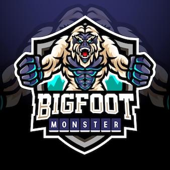Yeti mascotte esport logo design