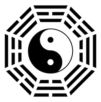 Simbolo di ying yang di armonia ed equilibrio