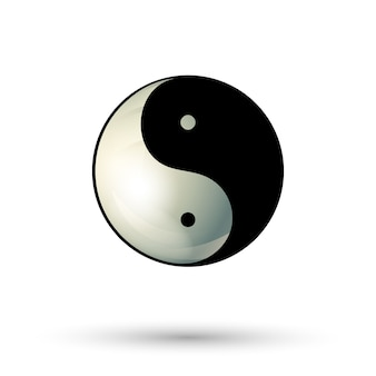 Icona simbolo yinyang