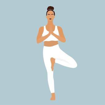 Yoga corpo giovane ragazza silhouette sport posa icon