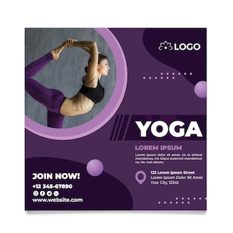 Modello di volantino del corso di yoga