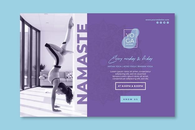 Modello di banner di lezioni di yoga