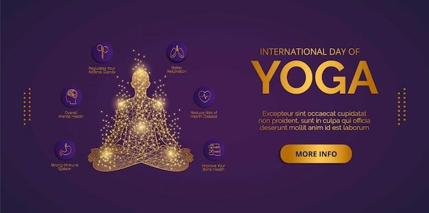 Yoga day il 21 giugno vettoriale. progettare vettori per banner, sfondi, poster o carte.