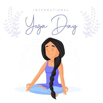 Modello di progettazione di banner giorno yoga