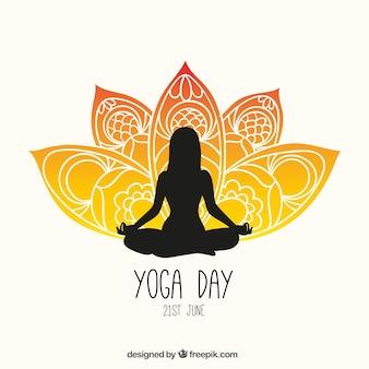 Yoga giorno volantino