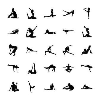 Pittogrammi pieni di yoga