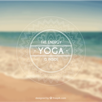 Yoga insegna in stile ornamentale
