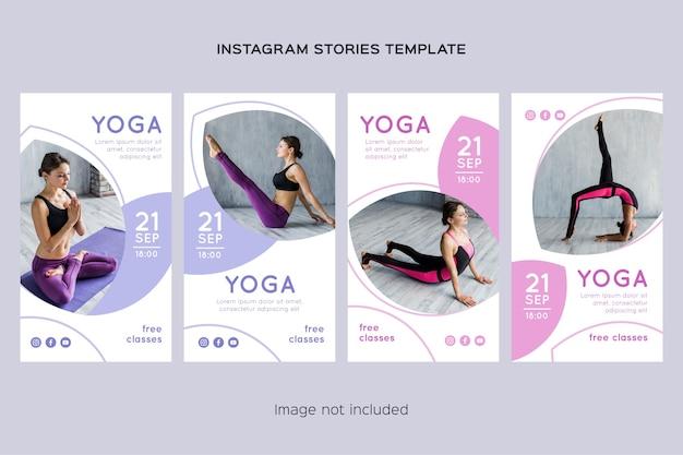 Raccolta di storie di instagram di yoga