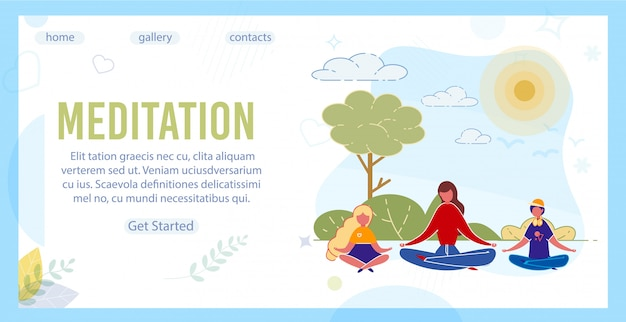 Istruttore di yoga e bambini che meditano nel parco.
