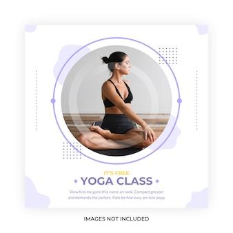 Classe di meditazione yoga social media post